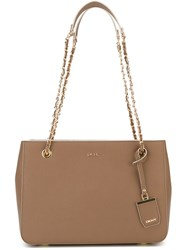 Dkny Chain Handle Shopper Tote Nude And Neutrals