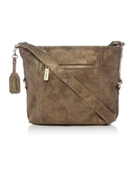 Ollie And Nic Edna Brown Medium Crossbody Bag Brown