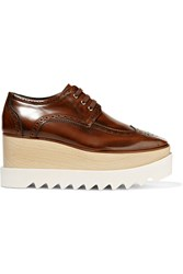 Stella Mccartney Faux Leather Platform Brogues Brown