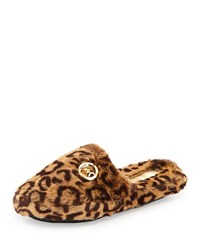Michael Michael Kors Jet Set Faux Fur Slipper Cheetah Natural Cheetah Natural