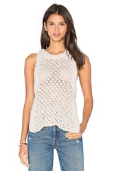 For Love And Lemons Knitz Mulberry Tank Ivory