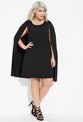 Forever 21 Plus Size Layered Cape Dress Black