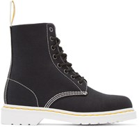 Dr. Martens Black Canvas 8 Eye Page Boots