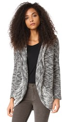 Bb Dakota Jack By Phirich Hooded Cardigan Black White