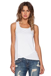 Heather Wrap Front Tank White