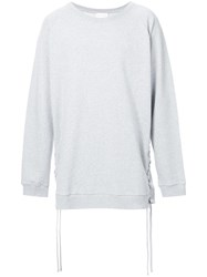 Faith Connexion Lace Up Detail Sweatshirt Grey