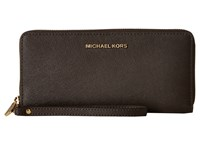Michael Michael Kors Jet Set Travel Travel Continental Coffee Clutch Handbags Brown