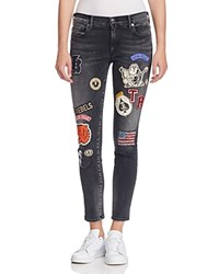 True Religion Halle Patched Super Skinny Jeans In Black Dnwb Black