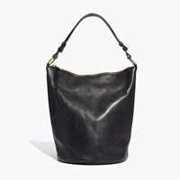 Madewell The Lisbon O Ring Bucket Bag In Leather True Black