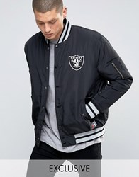 Majestic Raiders Bomber Jacket Exclusive To Asos Black