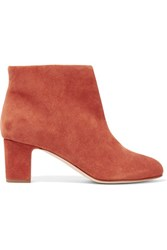 Rupert Sanderson Honeycup Suede Ankle Boots Camel