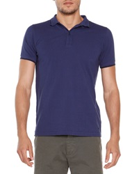 Tomas Maier Short Sleeve Tipped Polo Blue