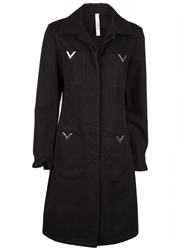 Red Valentino Vintage Single Breasted Trench Black
