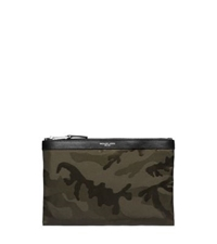 Michael Kors Kent Camouflage Nylon Travel Pouch Army