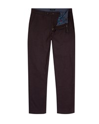 Ted Baker Wegton Classic Fit Trousers Dark Red
