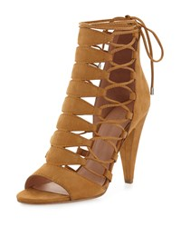 Sigerson Morrison Magola Nubuck Lace Up Sandal Timber