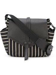 Isabel Marant 'Harlin' Striped Shoulder Bag Black