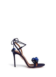 Aquazzura 'Disco Thing' Sequin Suede Sandals Blue
