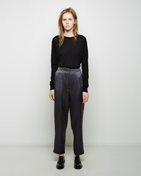 Acne Studios Daber Satin Trouser Dark Grey
