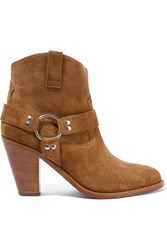 Saint Laurent Curtis Suede Ankle Boots Camel