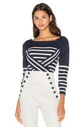 Tommy Hilfiger Gigi For Technical Stripe Sweater Navy