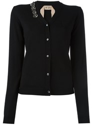 N 21 No21 Embellished Button Cardigan Black