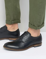 Dune Brummie Leather Derby Shoes Black