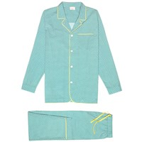 Kloters Milano Palm Tile Pyjamas White Green Yellow