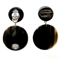 L'artisan Createur Small Round Clip On Earrings Silver