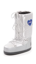 Moschino Moon Boots Silver