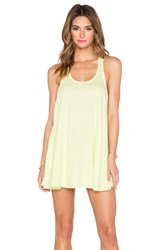 Bobi Light Weight Jersey Tank Dress Yellow