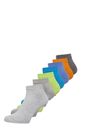 Camano Box 7 Pack Socks Turquoise Fog Lime Ultramarine Light Green
