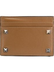 Valentino Garavani 'Rockstud' Card Holder Brown