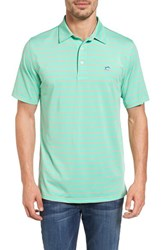 Southern Tide Men's Driver Stripe Polo Starboard Green