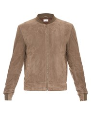 Brunello Cucinelli Long Sleeve Suede Bomber