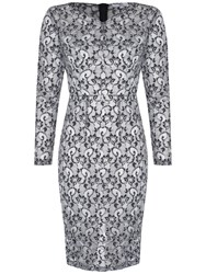 True Decadence Lace Pencil Dress Black White