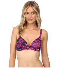Tommy Bahama Jacobean Floral Full Cup Bra Top Wild Orchid Pink Women's Swimwear
