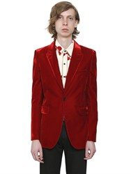 Saint Laurent Velvet Jacket With Pick Stitch Detail