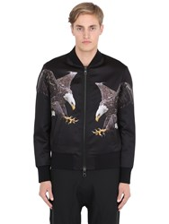 Neil Barrett Eagles Printed Satin Bomber Jacket