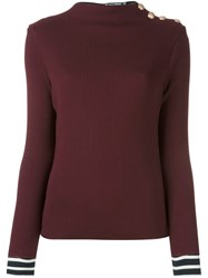 Petit Bateau Button Detail Jumper Red