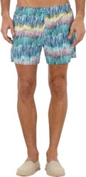 Roda Brushstroke Print Swim Shorts Blue