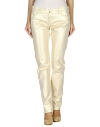 Who S Who Denim Denim Trousers Women Ivory