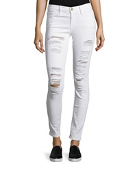 Frame Le Color Rip Skinny Distressed Jeans Winter White