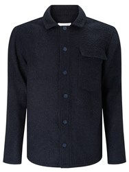 Libertine Libertine Pinnacle Boucle Overshirt Jacket Black Asphalt