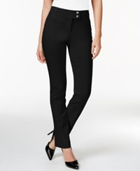 Styleandco. Style And Co. Slim Leg Tummy Control Pants Deep Black
