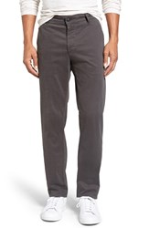 Ag Jeans Men's Big And Tall 'The Lux' Tailored Straight Leg Chinos Dark Grey