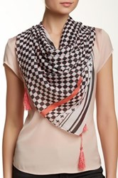 14Th And Union Geo Dot Oblong Scarf Pink