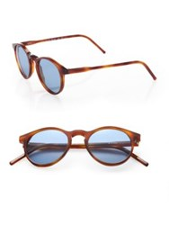 Kyme Miki 48Mm Round Pantos Sunglasses Light Brown Blue