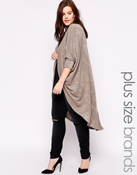 Ax Paris Plus Longlined Bat Wing Cardigan