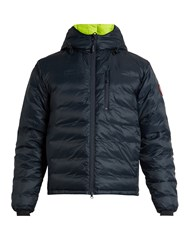 Canada Goose Lodge Hooded Down Jacket Navy